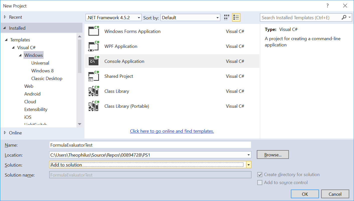 Testing Class Libraries with C# in Visual Studio – crypto